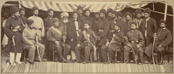 Group. The Amir Yakub Khan & sirdars of Kabul [Safed Sang].